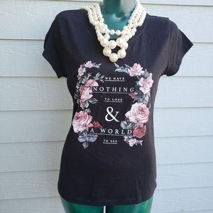Freeze Statement Black Roses Short Sleeve T-Shirt